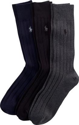 Ralph Lauren Combed Cotton Rib Sock 3-Pack