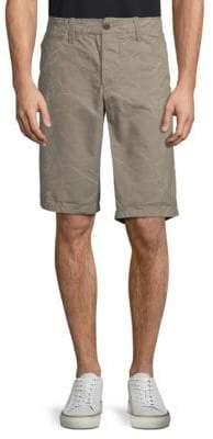 Jet Lag Vintage Flat Front Printed Cotton Shorts
