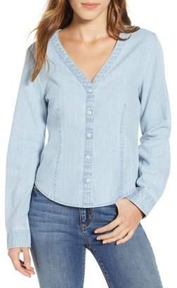 BP V-Neck Chambray Shirt (Regular & Plus Size)
