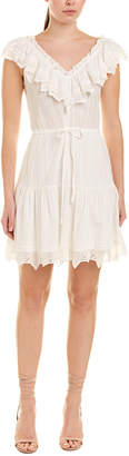 Rebecca Taylor Ruffled Tie-Waist A-Line Dress