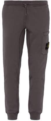 Stone Island Cargo Pocket Cotton Jersey Track Pants - Mens - Brown