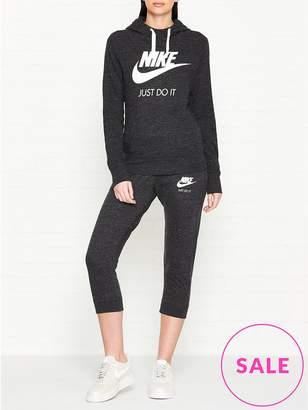 Nike Vintage Gym Hooded Jumper- Black