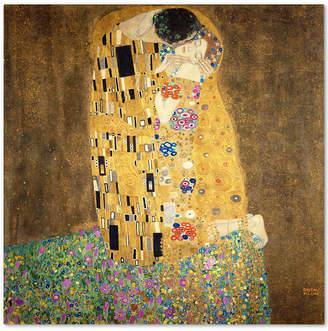 Gustav Trademark Global Klimt 'The Kiss 1907-8' Canvas Wall Art