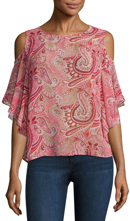 BUFFALO JEANS Buffalo Jeans Cold Shoulder Flutter Top