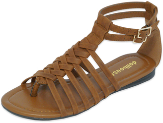 Tan Babsy Gladiator Sandal $24.99 thestylecure.com