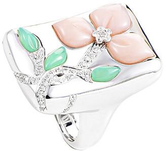 Heritage Oro Trend 18K 0.40 Ct. Tw. Diamond & Gemstone Ring