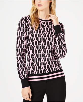 Marella Jazz Printed Long-Sleeve Sweater