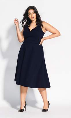 City Chic Citychic Cute Girl Dress - navy