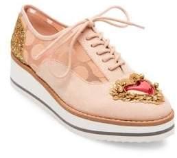 Betsey Johnson Dorthi Embellished Platform Sneakers