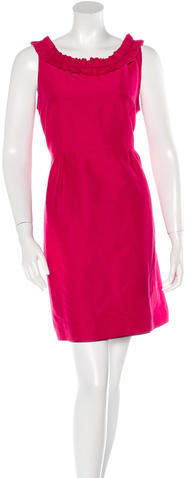 Kate Spade Kate Spade New York Ruffle-Trimmed Sheath Dress