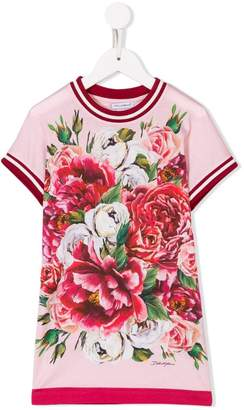 Dolce & Gabbana peonies print dress