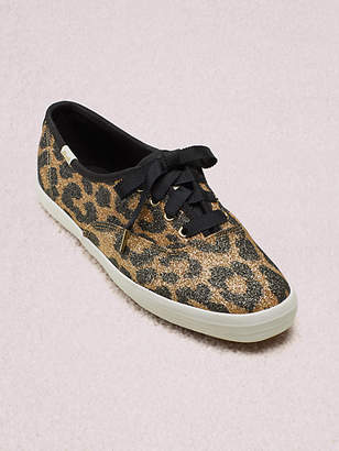 Kate Spade Keds X Champion Glitter Leopard Sneakers, Size 5