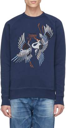 Denham Jeans Crane embroidered sweatshirt