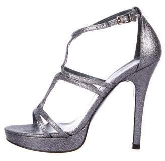 Stuart Weitzman Tracking Glitter Sandals