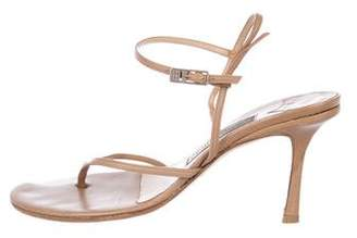 Jimmy Choo Leather Ankle-Strap Sandals