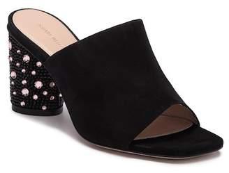 Stuart Weitzman Glitsy Jeweled Heel Sandal