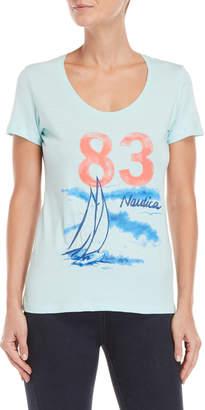 Nautica Embroidered Graphic Tee