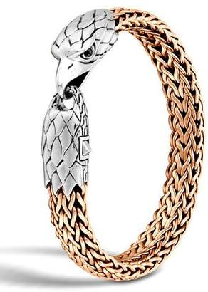 John Hardy Men's Silver/Bronze Eagle Head Chain Bracelet $895 thestylecure.com