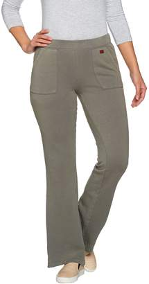 Peace Love World Bootcut Fleece Knit Pants with Pockets