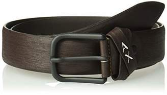 Armani Exchange A|X Men's Skinny Leather Belt with Square Buckle