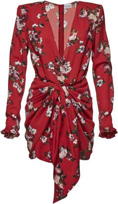 Magda Butrym Lesina Floral-Print Silk Mini Dress