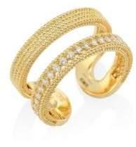 Roberto Coin Double Symphony Diamond& 18K Yellow Gold Ring