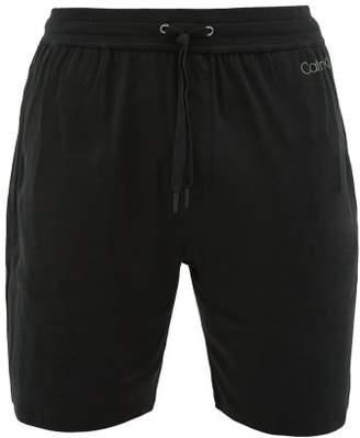 Calvin Klein Underwear Logo Print Pyjama Shorts - Mens - Black