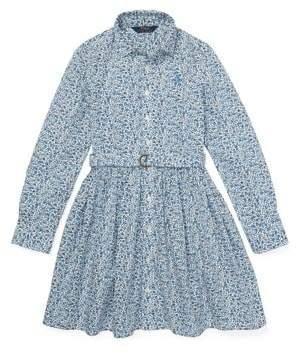 Ralph Lauren Girl's Floral Cotton Shirtdress