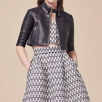 Maje Cropped leather jacket