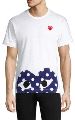 Comme des Garcons Half Polka Dot Graphic Tee