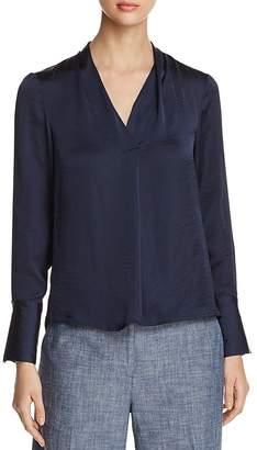 Kenneth Cole V-Neck Long Sleeve Blouse