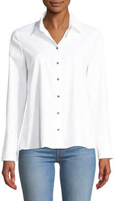 Club Monaco Jadyn Pleated Button-Front Poplin Shirt