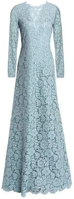 Valentino Corded Lace Cotton-Blend Gown