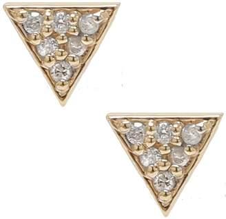 Waverly Adornia Diamond Triangle Stud Earrings