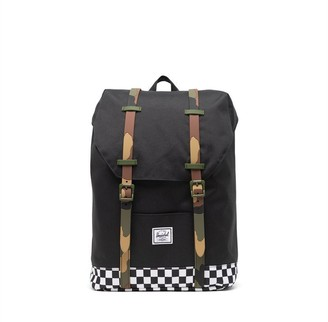 Herschel Supply Company Ltd Retreat Youth Backpack Black and Checkers 5 to 7 Years