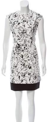 Balenciaga Marble Print Mini Dress