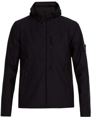 Stone Island Hooded Technical Jacket - Mens - Black