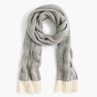 J.Crew Kids' cable-knit scarf