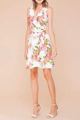 Hale Bob Althaea Flounce-Wrap Dress