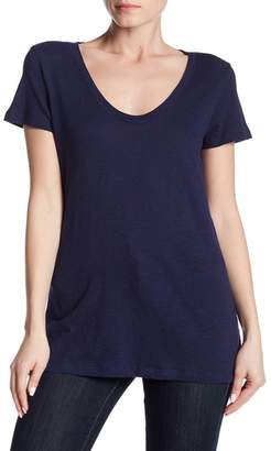Susina Scoop Neck Slub T-Shirt (Regular & Petite)