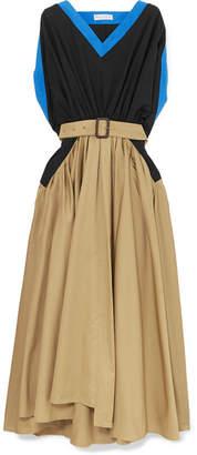 J.W.Anderson Belted Cotton-poplin Maxi Dress - Beige