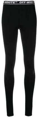 Off-White logo waistband leggings