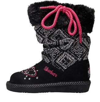Skechers Infant Girls Twinkle Toes GlamSlam Lil Lovelies Boots Black
