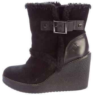 Tory BurchTory Burch Shearling Wedge Ankle Boots