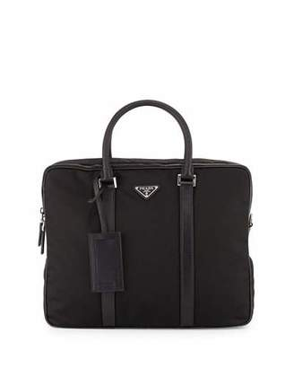 Prada Nylon Double-Zip Briefcase, Black $1,720 thestylecure.com