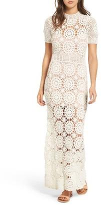 Women's Majorelle Therese Crochet Maxi Dress $328 thestylecure.com