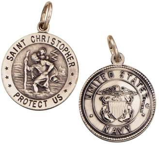Sterling Saint Christopher /Navy Medal charm