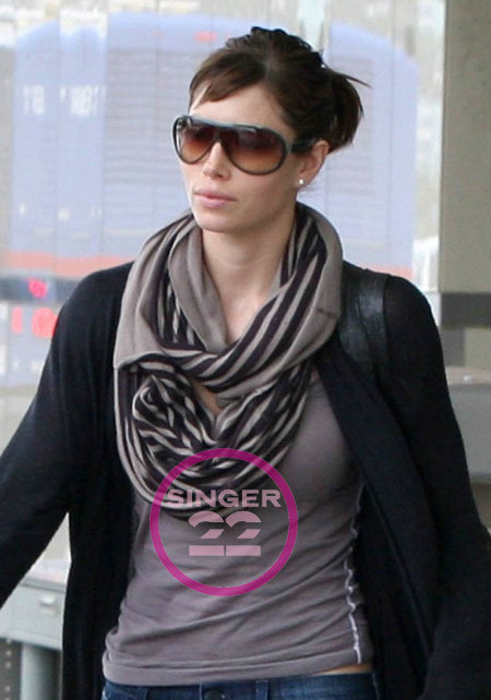 Ya Ya Aflalo Infinite Dew Stripe Scarf as seen on Jessica Biel