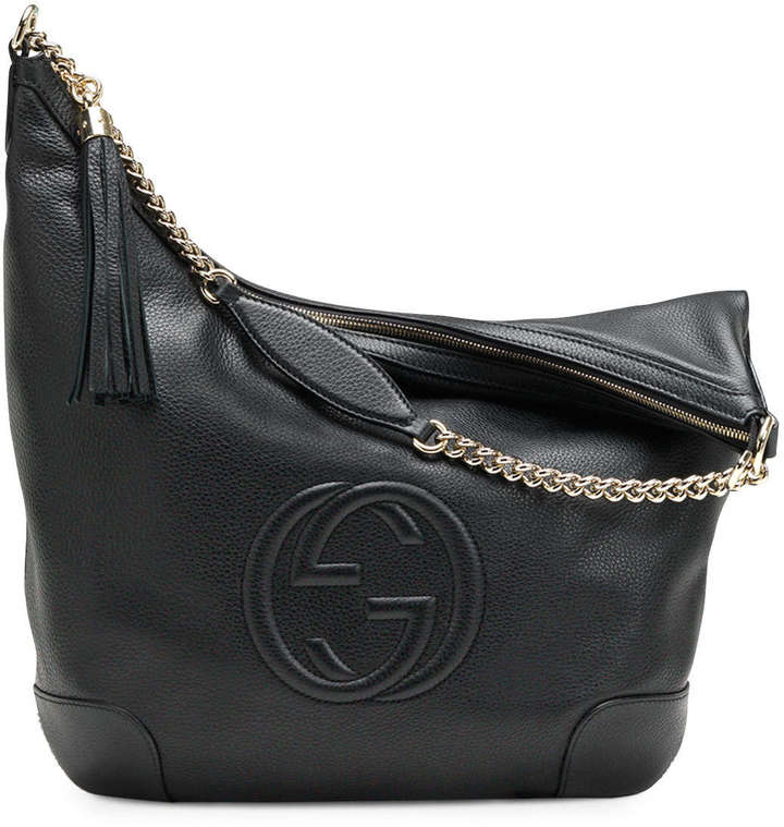 Gucci Soho Leather Chain Shoulder Bag, Black
