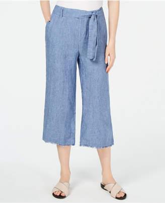 Charter Club Tie-Waist Cropped Pants